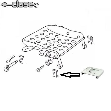 Coulisseau exterieur pour glissière de siège