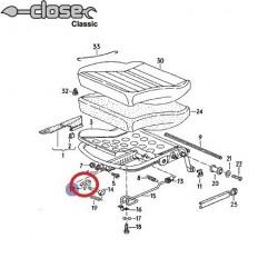 Plastic de glissière de siège av central
