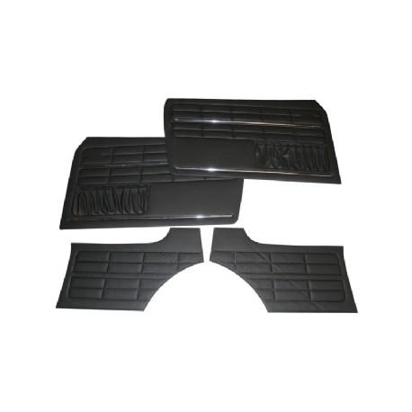 Kit 4 Panneaux de porte noir